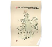 A flower wedding - Described by Two Wallflowers by Walter Crane 1905 18 - Young with Oldmansbeard Poster