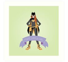 Fight Like a Girl: Batgirl Art Print