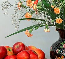 Flowers and Fruit by Linda Lees