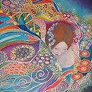 Utopia 2 (acrylics on canvas 60 X 60 cm) by Marilia Martin