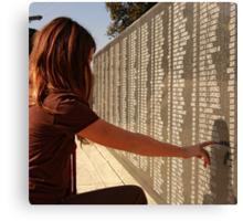 Veterans Memorial - All Gave Some... Some Gave All Canvas Print