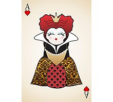 Kokeshi Queen of Hearts Photographic Print