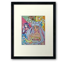 Sailor Moon Fanart Serinity Inner Senshi Framed Print