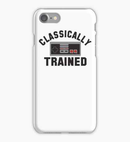 Classically Trained Nintendo T-Shirt iPhone Case/Skin