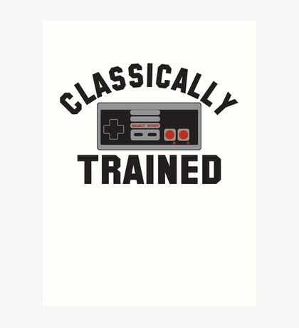 Classically Trained Nintendo T-Shirt Art Print