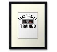 Classically Trained Nintendo T-Shirt Framed Print
