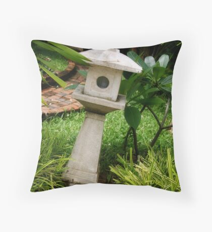 Asian Garden Throw Pillow