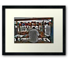 Working the Loom Framed Print