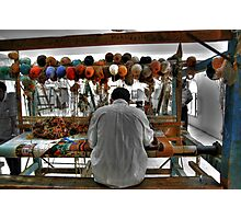 Working the Loom Photographic Print