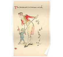 A flower wedding - Described by Two Wallflowers by Walter Crane 1905 23 - The Bachelor's Button was cast aside Poster