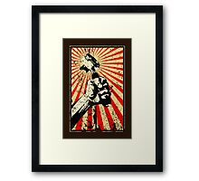 Coffee Revolution! Distressed Framed Print