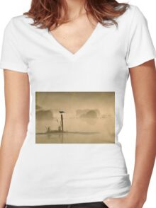 Early Bird Women's Fitted V-Neck T-Shirt