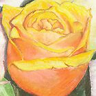 Orange Rose by Leslie Gustafson