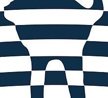 Stripped blue cat by cyberftomz