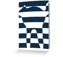 Stripped blue cat Greeting Card
