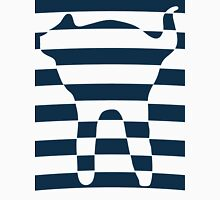 Oval stripped blue cat Unisex T-Shirt