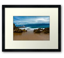 Portsea lightning Framed Print