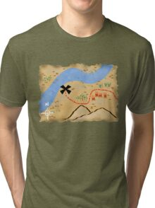 Treasure Map Tri-blend T-Shirt