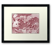Erasing thoughts in a troubled mind... Framed Print