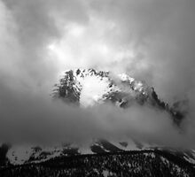 A glance at Jeff Davis Peak shrouded in mystery by arvyart