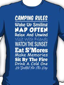Camping Rules - Funny Tshirt T-Shirt