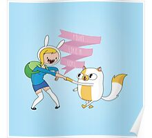 Fight Like a Girl: Fionna + Cake Poster