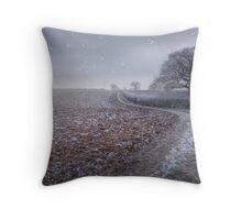 Winter's Field Throw Pillow