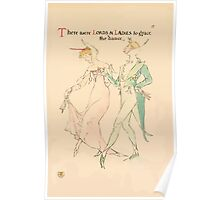 A flower wedding - Described by Two Wallflowers by Walter Crane 1905 31 - There were Lords and Ladies to grace the dance Poster