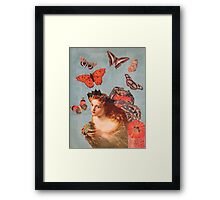 And Gently Suspending Framed Print