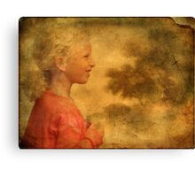The Danish Song Is A Young Blond Girl Canvas Print