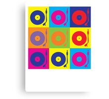 Vinyl Record Player Turntable Pop Art Canvas Print
