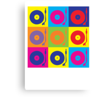 Vinyl Record Player Turntable Pop Art Canvas Print