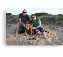 15. Jaclyn & Marc & their boxer Canvas Print