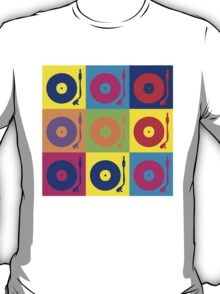 Vinyl Record Player Turntable Pop Art T-Shirt