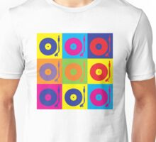 Vinyl Record Player Turntable Pop Art Unisex T-Shirt