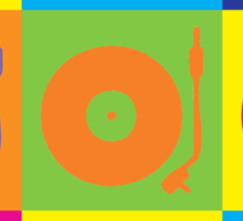 Vinyl Record Player Turntable Pop Art Sticker