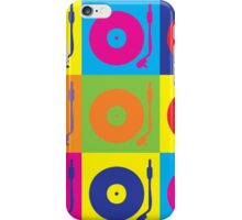 Vinyl Record Player Turntable Pop Art iPhone Case/Skin
