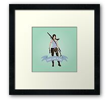 Fight Like a Girl: Lara Croft Framed Print