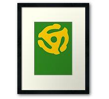 Yellow 45 RPM Vinyl Record Symbol Framed Print