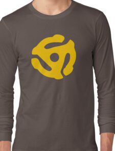 Yellow 45 RPM Vinyl Record Symbol Long Sleeve T-Shirt