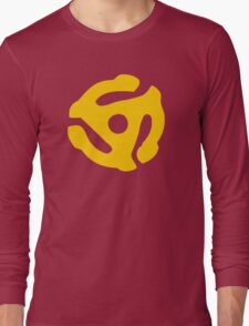Yellow 45 RPM Vinyl Record Symbol Long Sleeve T-Shirt