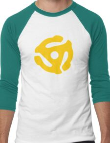 Yellow 45 RPM Vinyl Record Symbol Men's Baseball ¾ T-Shirt