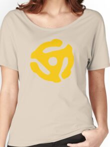 Yellow 45 RPM Vinyl Record Symbol Women's Relaxed Fit T-Shirt