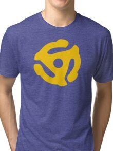 Yellow 45 RPM Vinyl Record Symbol Tri-blend T-Shirt