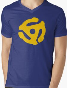 Yellow 45 RPM Vinyl Record Symbol Mens V-Neck T-Shirt