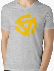 Yellow 45 RPM Vinyl Record Symbol Mens V-Neck T-Shirt