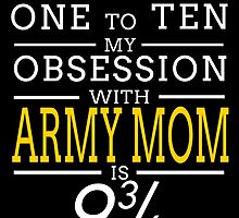 ON A SCALE OF ONE TO TEN MY OBSESSION WITH ARMY MOM IS by BADASSTEES