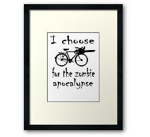 Apocalyptic Bike Framed Print