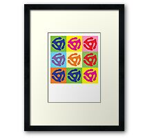45 RPM Vinyl Record Player Pop Art Framed Print