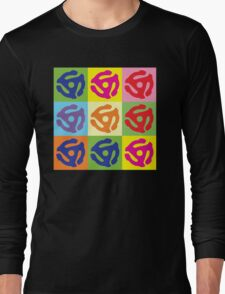45 RPM Vinyl Record Player Pop Art Long Sleeve T-Shirt